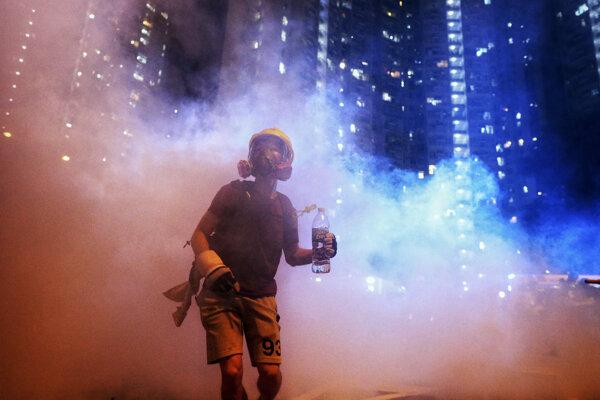 V Hongkongu pokračovali protesty.