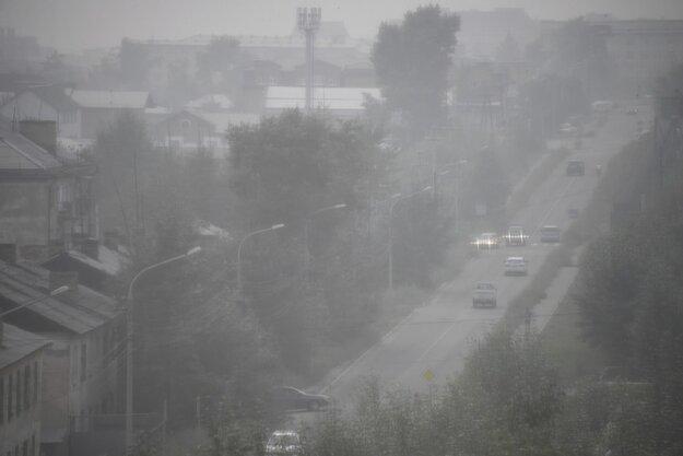 Silný dym z požiarov zahalil mesto Čita v Zabajkalskom kraji na juhovýchode Sibíri.