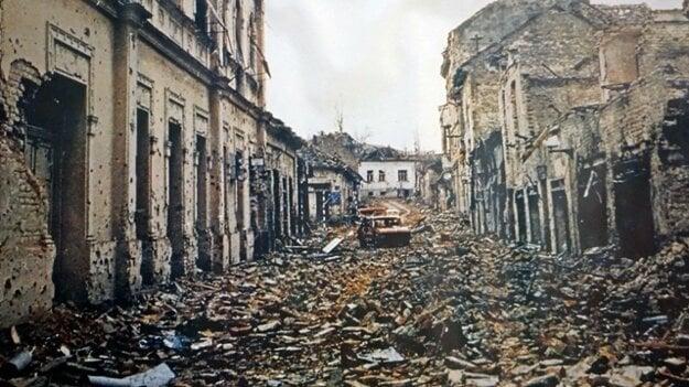 Takto vyzeral vojnou zničený Vukovar.