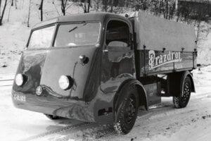 Elektrický nákladiak Škoda využívaný na rozvoz piva