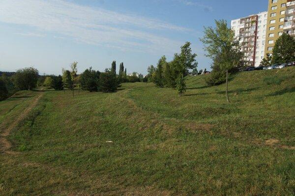 Na zelenej ploche majú stáť obytné domy a jedna administratívna budova.