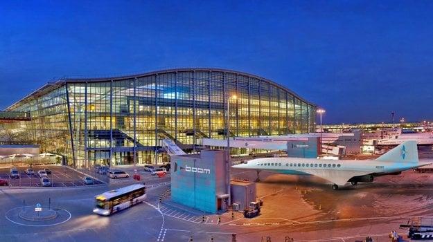 Nadzvukové lietadlo na londýnskom letisku Heathrow.
