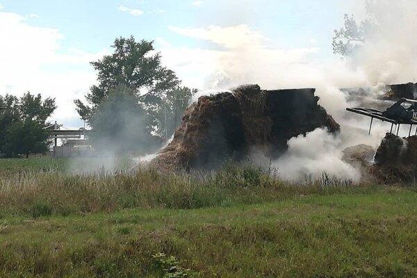 Požiar v Trebišove.