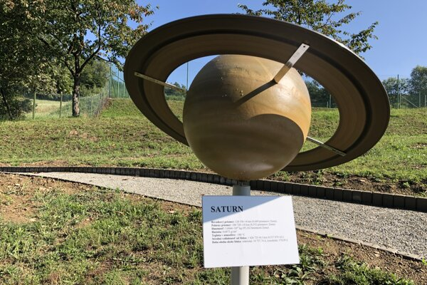 Park slnečnej sústavy v Roztokoch.