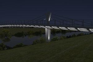 Takto by mal vyzerať nový most cez rieku Nitru.