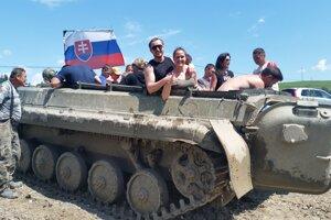 Jazda tankom v Podbieli na Orave.