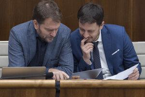 Igor Matovič (vľavo) a  Eduard Heger.