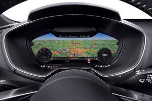Zobrazenie navigácie - digitálny prístrojový panel
