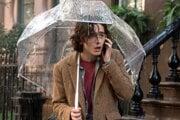 Nová herecká hviezda Timothé Chalamet vo filme Woodyho Allena Daždivý deň v New Yorku.