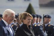 Slovenská prezidentka Zuzana Čaputová a nemecký prezident Frank-Walter Steinmeier.