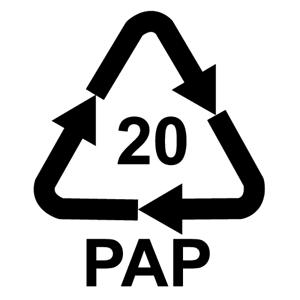 Recyklačná značka pre vlnitú lepenku