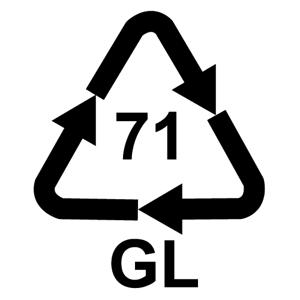 Recyklačná značka pre zelené sklo