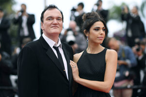 Quentin Tarantino s manželkou Danielou Pickovou.