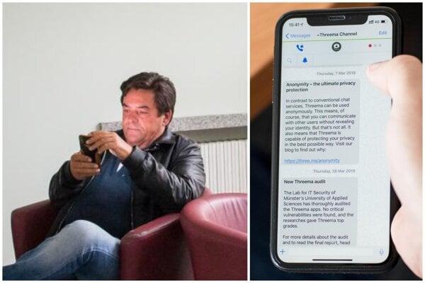 Marian Kočner a aplikácia Threema.