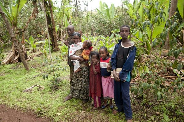 Rodina farmára z Etiópie