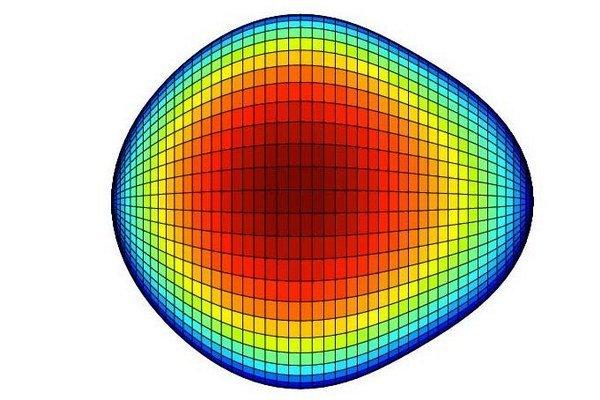 Jadro atómu pripomína hrušku.