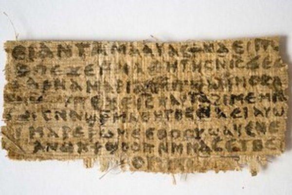 Papyrus hovoriaci o údajnej Ježišovej žene rozhádal vedcov.