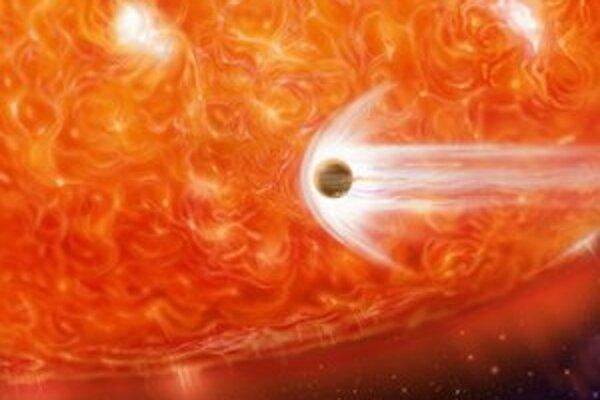 Vedci videli stopy po pohltení planéty.