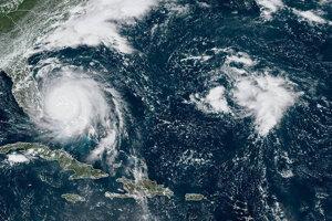 Snímka hurikánu Dorian z kozmu.