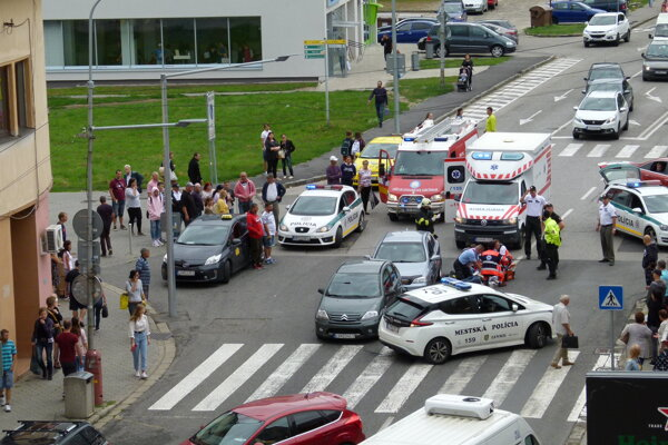 Nehoda v Leviciach.