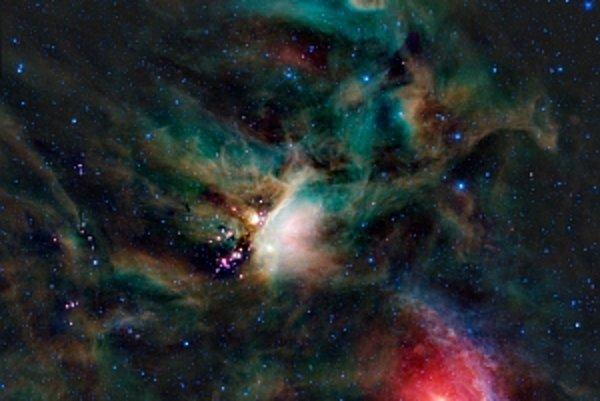 Zaujímavé deje prebiehajú ďaleko v kozme, no aj relatívne blízko pri Zemi. Na snímke je oblak prachu a plynu pri hviezde Ró Ophiuchi, kde sa formujú nové hviezdy – je to iba 500 svetelných rokov od Zeme.