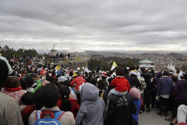Pápežova omša na Madagaskare.