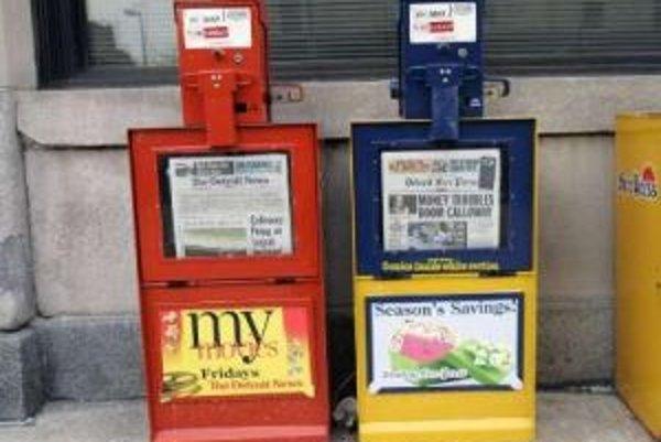 Detroitské denníky obmedzujú tlač.