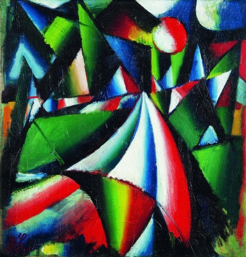 Cesta, olej na plátne, 31x30, 1963