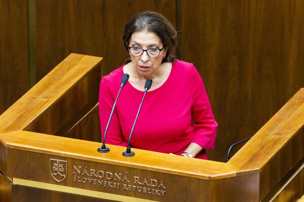 Poslankyňa Anna Zemanová (SaS).