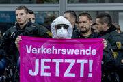 Protest vo Frankfurte.