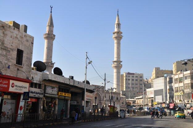 Ammán - mešita v centre mesta