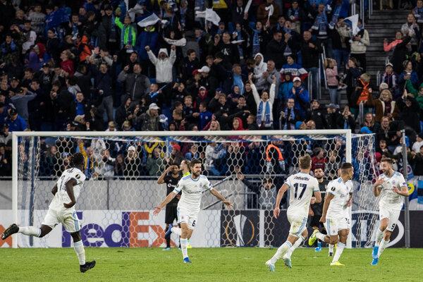 Momentka zo zápasu ŠK Slovan Bratislava - Besiktas Istanbul.