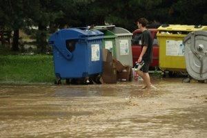 Povodeň v Prievidzi 15. augusta 2010.