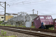 Aj takto to vyzeralo v Japonsku po vyčíňaní tajfúnu.