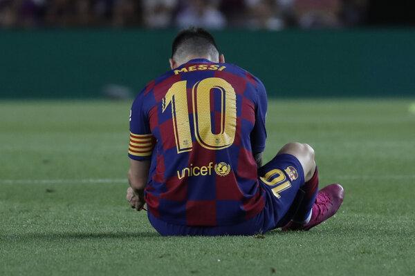 Lionel Messi v zápase proti Villarrealu.