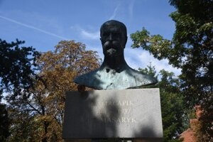 Socha Tomáša Garrigua Masaryka v Užhorode.