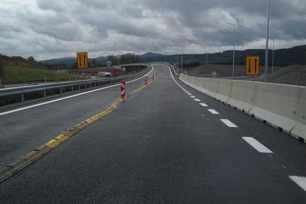 Nový most na diaľničnej križovatke Prešov - juh.