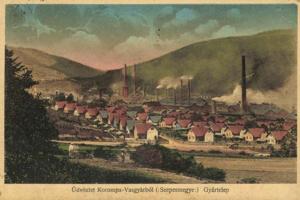 Železiareň s robotníckou štvrťou v Krompachoch.