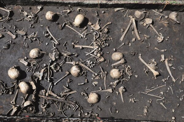 Kosti bojovníkov, ktorí padli v bitke pri rieke Tollense pred približne 3300 rokmi. V Európe predstavuje vôbec prvý dôkaz o prehistorickom bojisku.