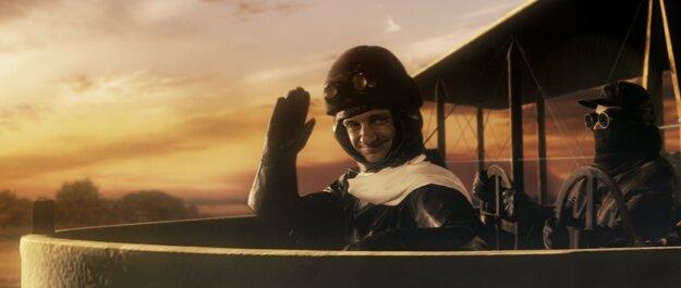 Tomáš Mischura ako štefánik na svojom poslednom lete vo filme Cesta do nemožna