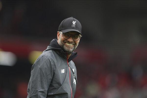 Jürgen Klopp počas zápasu Liverpoolu.