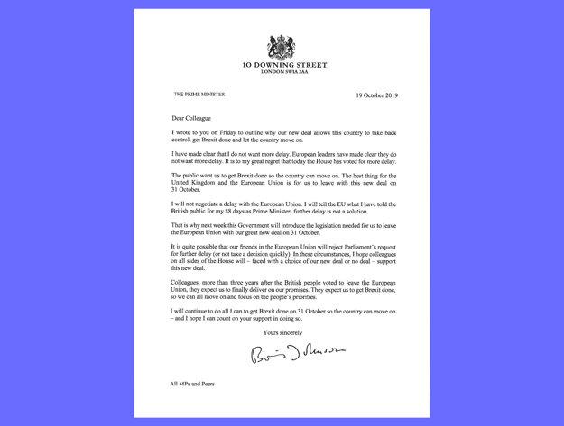 Johnsonov list britským zákonodarcom.