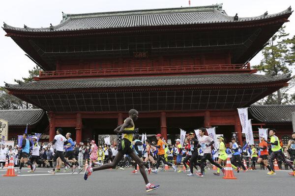 Ilustračná fotografia z maratónu v Tokiu.
