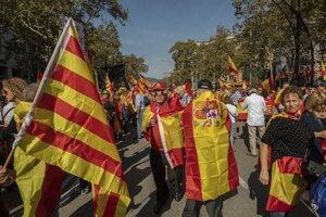 Do ulíc Barcelony vyšli tisícky ľudí.