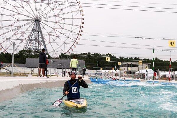 Aj Alexander Slafkovský testuje novú olympijsku trať.