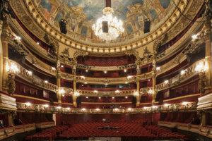 Operná sála Kráľovského divadla La Monnaie, Brusel.