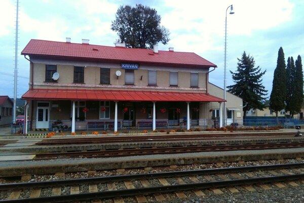 Železničná stanica v Kriváni.