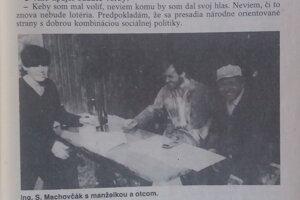 Rozhovor so Stanislavom Machovčákom z roku 1991