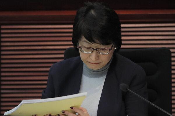 Hongkonská ministerka spravodlivosti Teresa Čcheng.