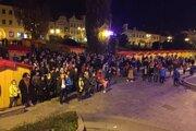 O 17. hodine sa začala spomienka na November 1989 v Prešove.